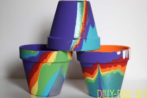 Pour Painted Pots Project