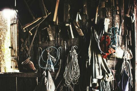 Different tools on a wall