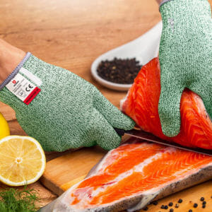 Green Cut Resistant Gloves