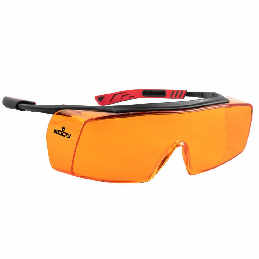 Over-Specs With Orange Lenses