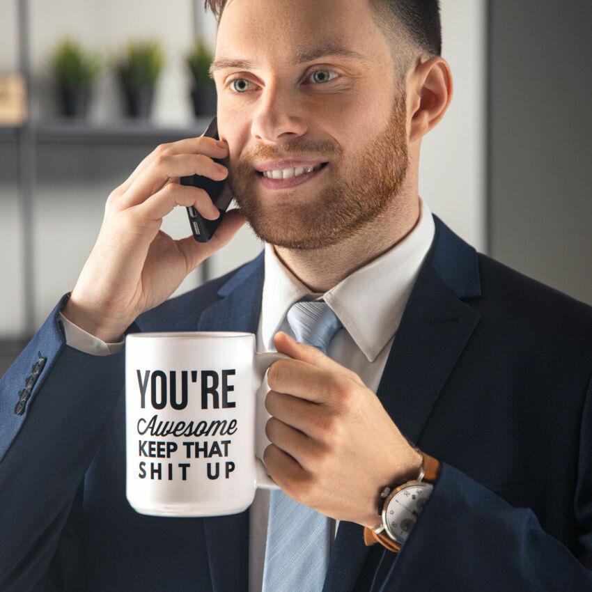 15oz Ceramic Tea & Coffee Mug